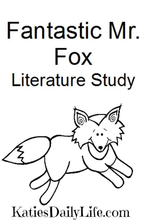 coloring pages fantastic mr fox grab your free fantastic mr fox literature study part of