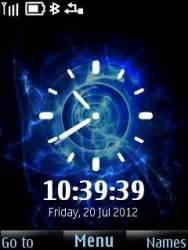 colour clock themes download free colour change clock s40 mobile phone theme