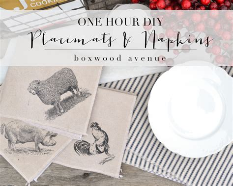 1 hour placemats and napkins boxwood avenue
