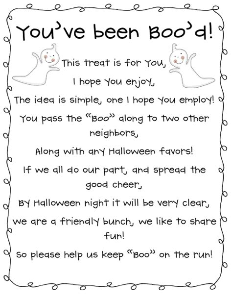 printable you ve been booed poem boo someone in my neighborhood started this and it is so