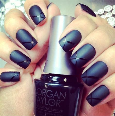 black matte nails prettytrippy