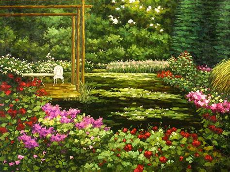 The Flower Yard Flower Garden Paintings