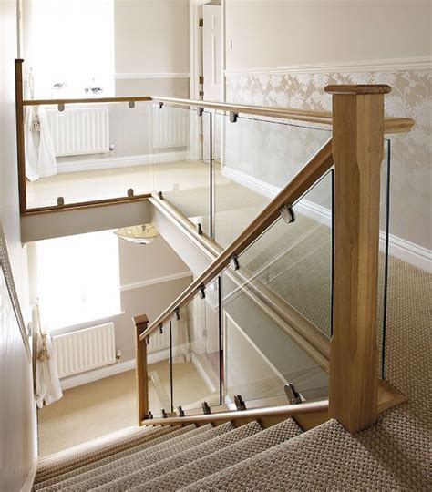 glass banister for stairs 25 best ideas about glass stair railing on pinterest