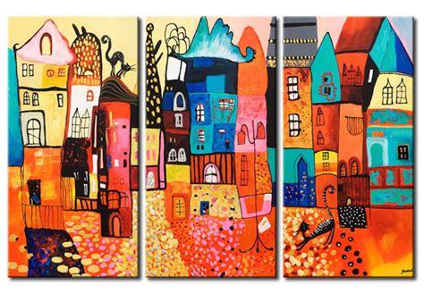 dozza cornici impression sur toile les maisons color 233 es pour enfants
