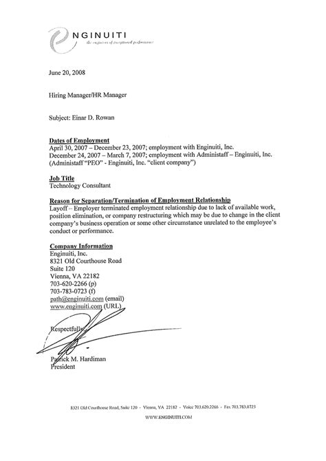 Character Reference Letter Written By Employer Character Reference Letters For Employment