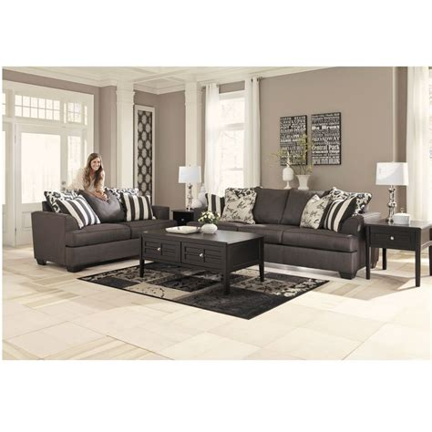 levon charcoal sofa rent to own levon charcoal sofa and loveseat