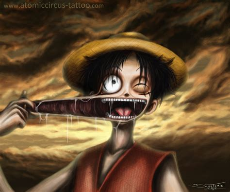 luffy from one piece by atomiccircus on deviantart