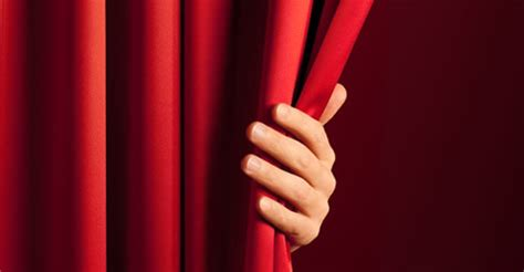 from behind the curtain spit out your gum paying attention to the men and women