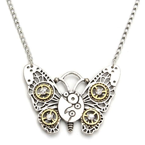 steunk jewelry butterfly wooden pendant necklace jewelry 28 images