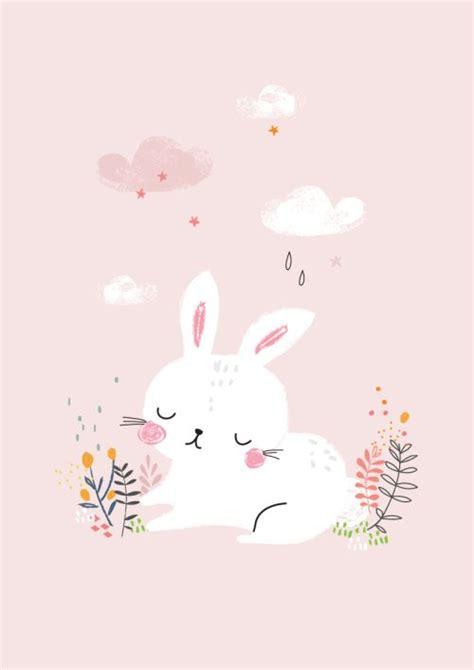 wallpaper pink rabbit charlotte lane