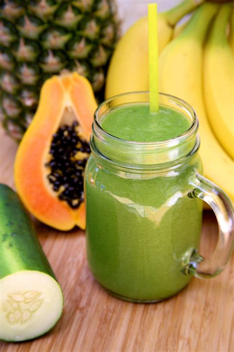 Calories Tropical Smoothie Detox by Debloating Smoothie Popsugar Fitness