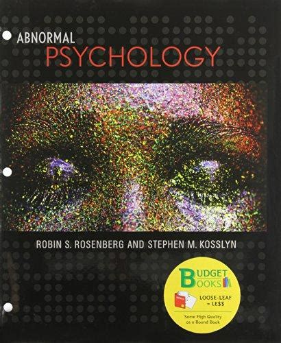 abnormal psychology books abnormal psychology leaf budget books