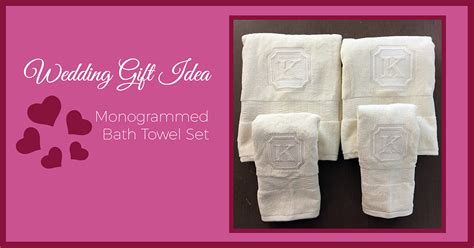 monogrammed gift ideas wedding gift idea monogrammed bath towels sew creative