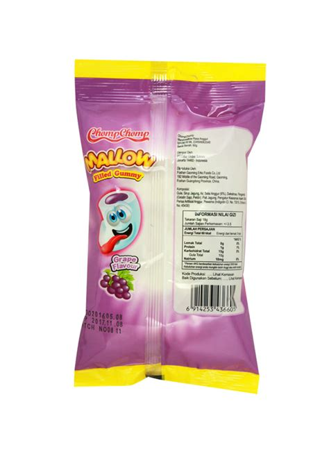 Marsmallow Chomp Chomp chomp chomp marshmallow filled gummy grape pck 60g