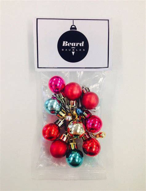 decorate beard for christmas beard baubles decorate your beard this christmas