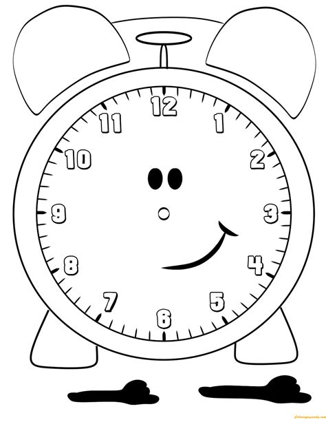 printable star clock lovely alarm clock coloring page free coloring pages online