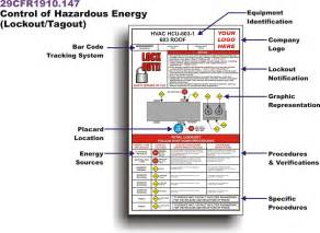 Lock Out Tag Out Procedures Template by Lockout Tagout Procedures Loto