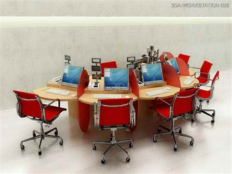Workstation Decoration by 3da Office Workstations Interior Design