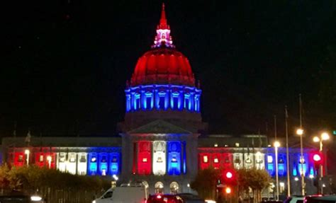 sf city hall lights mumbai cst other world monuments light up in french