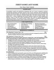 Human Relations Specialist Sle Resume by Hr Specialist Resume Template Premium Resume Sles Exle