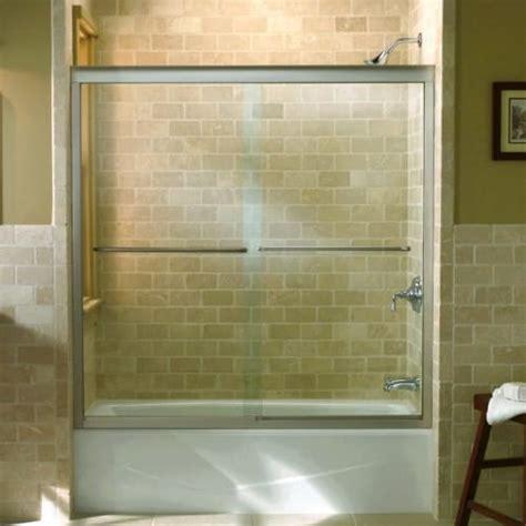 Fluence Shower Door Frameless Glass Kohler Fluence Frameless Bypass Bath Shower Door With Clear Glass In