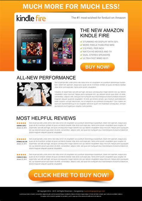 buy landing page template 100 best click through rate optimization landing page