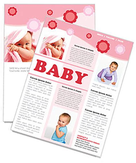 baby newsletter template design id