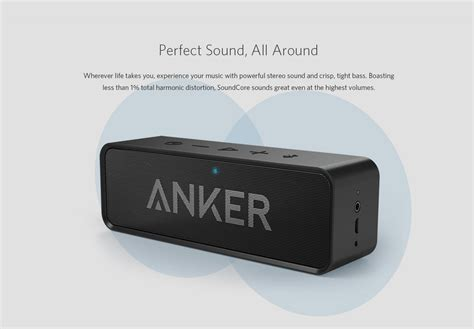 Anker Soundcore Bluetooth Speaker Dual Driver 24 Hours Playtime anker soundcore bluetooth speaker black