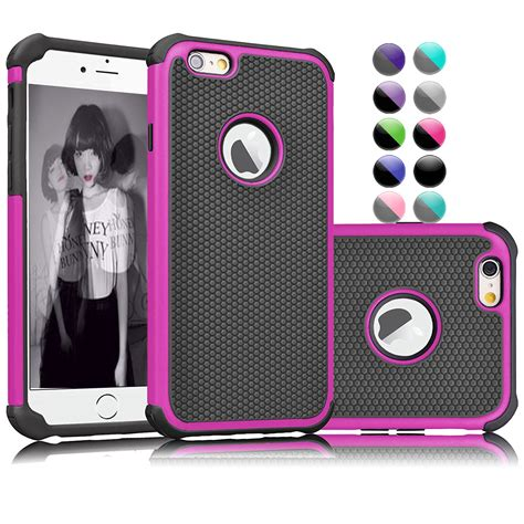 iphone 6s iphone 6 njjex shock absorbing hybrid impact defender slim cover shell