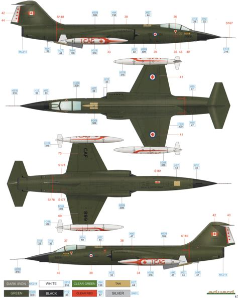 Match Paint Color lockheed cf 104 camouflage color profile and paint guide