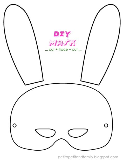 easter mask template best photos of bunny template bunny rabbit