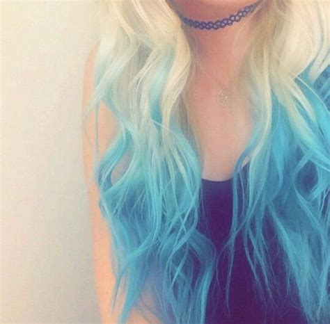 colored hair tips best 20 blue tips hair ideas on blue tips