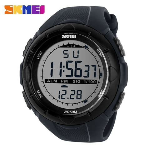 Jam Tangan Pria Cowok Digital Digitec Dg 3051t Black B Rubber Original skmei jam tangan sport digital pria dg1025 gray jakartanotebook