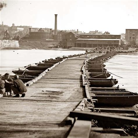 what is a pontoon bridge union brigades cross the potomac into harpers ferry