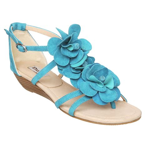 d sandals new dune d womens suede floral low wedge