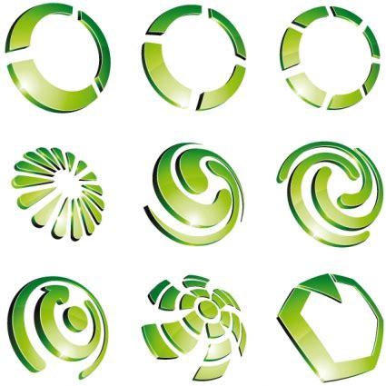 design logo gratis download green 3d logo design vector free vectors ui download