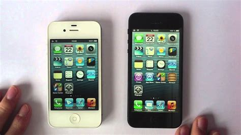 comparatif iphone 5 vs iphone 4s design et rapidit 233