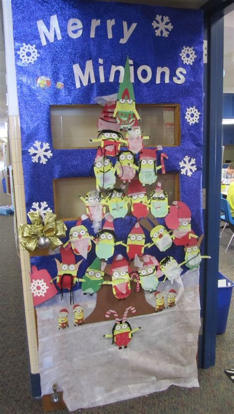 merry christmas class decoration 17 best ideas about minion classroom door on minion door decorations minion