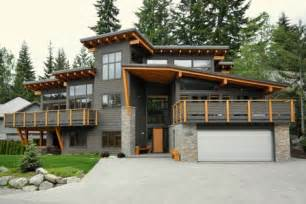 modern house with distinctive roof line photo by jeff kuly p b exterior finishes