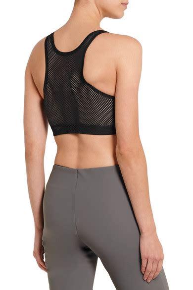 Vogo Stretch Jersey Sport Bra mover stretch jersey and mesh sports bra net a porter