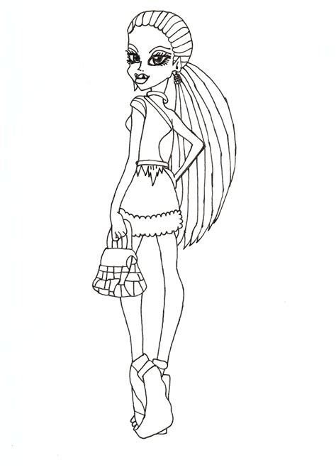 monster high printable coloring pages abbey free printable monster high coloring pages abbey scaris