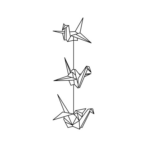 tattoo of paper crane paper crane tattoo google search ink pinterest