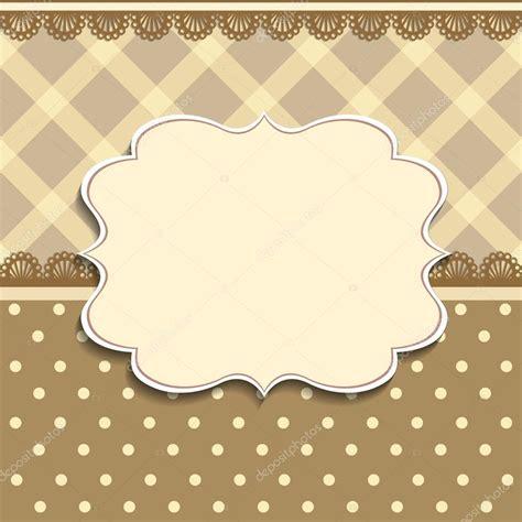 vintage frame background invitation template vetores