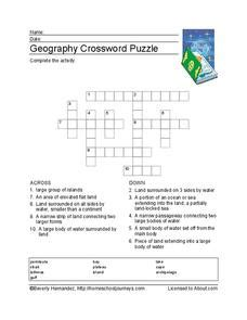 5 themes of geography crossword puzzle geography crossword puzzle worksheet for 3rd 4th grade