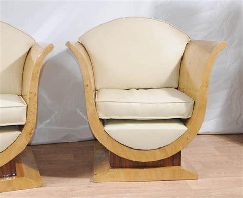 Due North Chairs pair art deco sofa arm chairs club chair vintage furniture