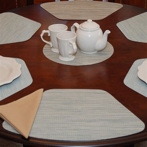 wedge placemats for round table wedge placemats seafoam green tan wipeable wedge shaped