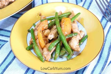carbohydrates green beans chicken green beans and tomatoes skillet stir fry low
