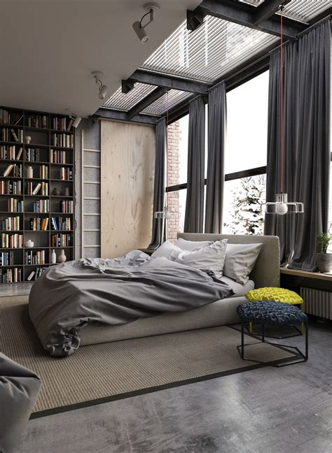 industrial bedrooms interior design home design 25 industrial bedroom interior designs for elegant bedroom