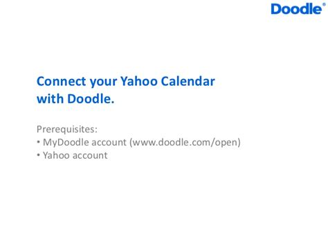 doodle calendar integration doodle yahoo calendar integration
