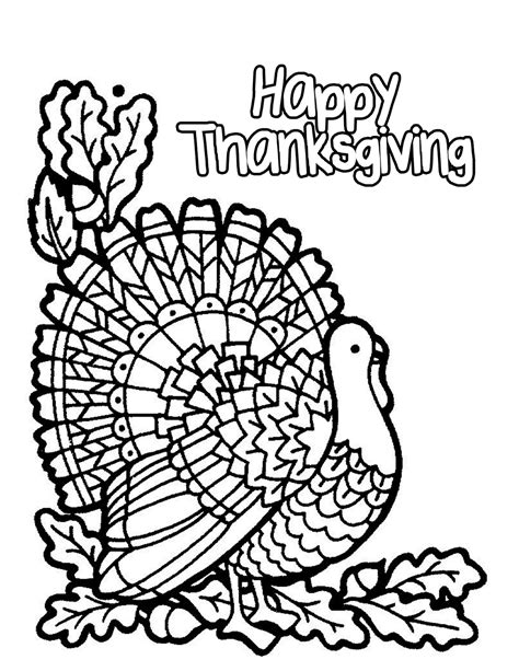 coloring page happy thanksgiving turkey happy thanksgiving coloring pages children